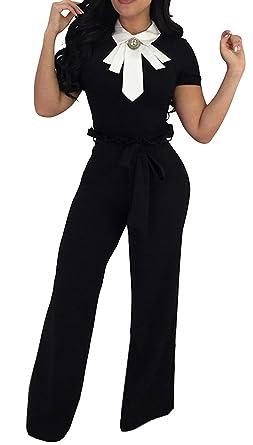 Pingrog Largos Pantalones Mujer Cintura Alta Spring Negro ...