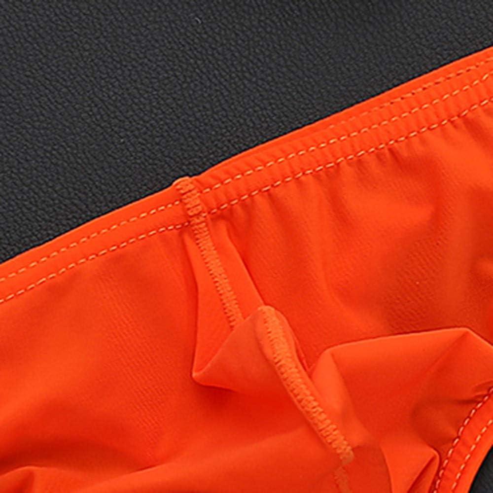 CailangT Short Leg Soft Thong Underwear for Men Shorts Raised Underwear Ice Silk T Underwears