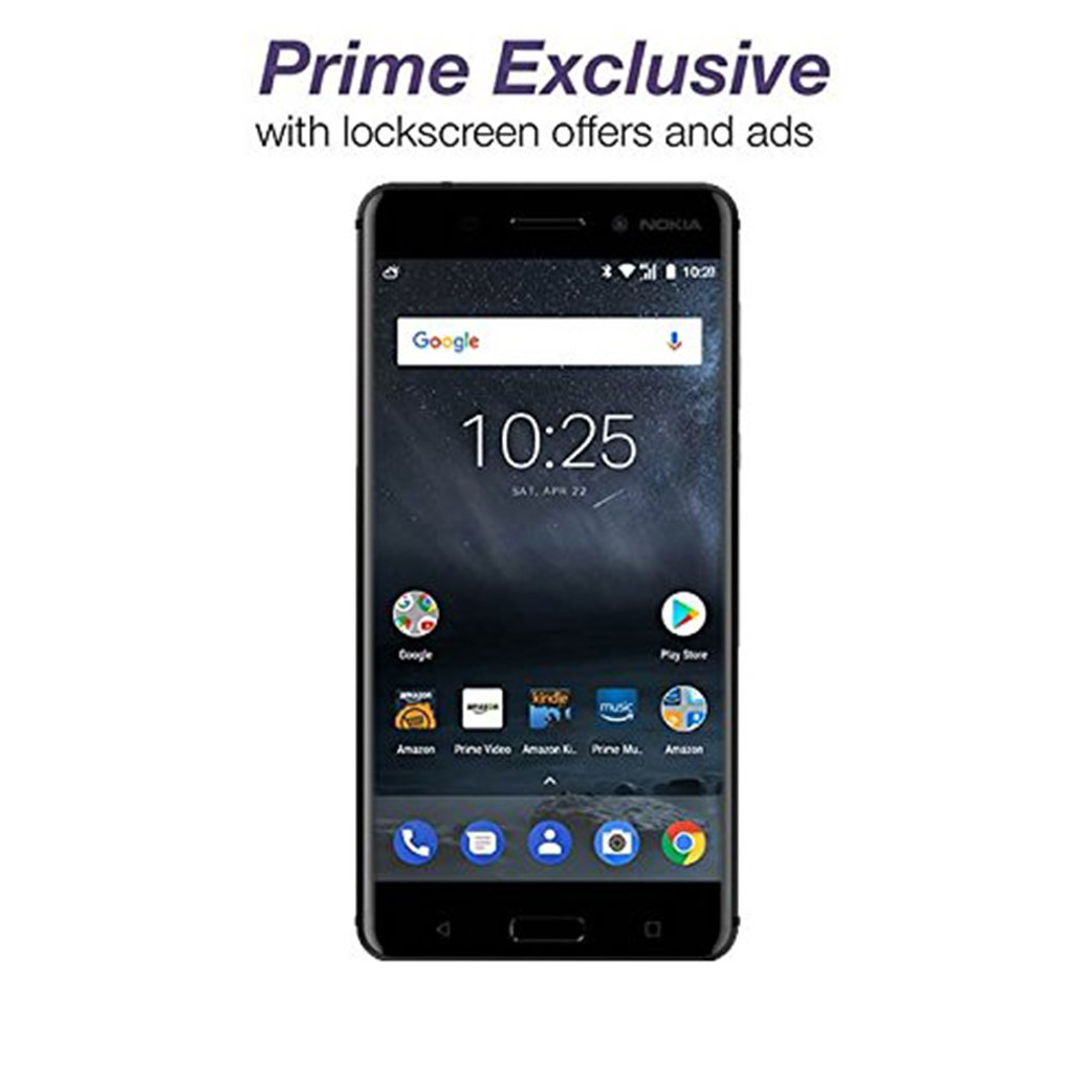 Nokia 6 - 32 GB - Unlocked (AT&T/T-Mobile) - Black - Prime Exclusive - with Lockscreen Offers & Ads by Nokia mobile