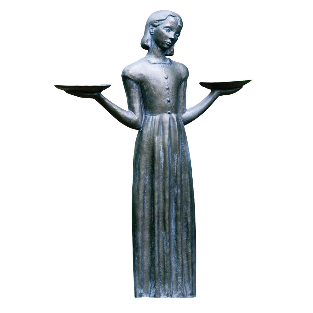 Outdoor Garden Sculpture - Savannah's Bird Girl Statue (Small - 15'')