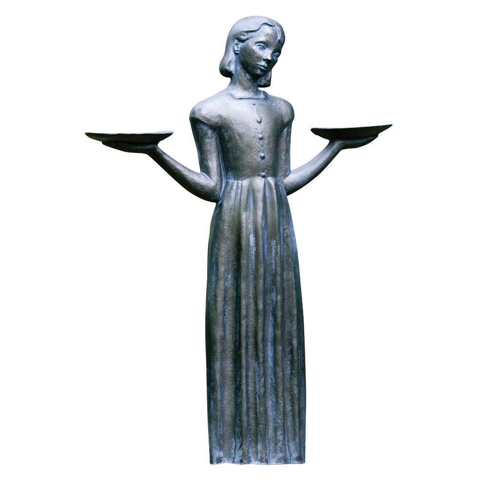 Outdoor Garden Sculpture - Savannah's Bird Girl Statue (Small - 15'') by Potina