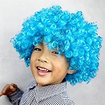 Kentop Peluca Carnaval Halloween Rizado Afro fregona voluminosos, Frankenstein: Amazon.es: Hogar