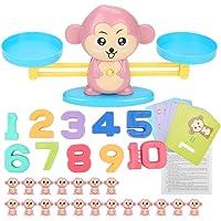 NUOBESTY Multiplikationstabelle Rechenbrett mit 99 Tabelle Holz Zahlenspiel Rechenspiel Holzpuzzle Montessori Spielzeug f/ür Kinder