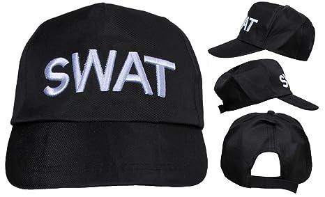 Adulto SWAT Sombrero Para Disfraz ajustable POLICE Gorra Béisbol Militar Seguridad Accesorio (Múltiple Paquetes Disponible
