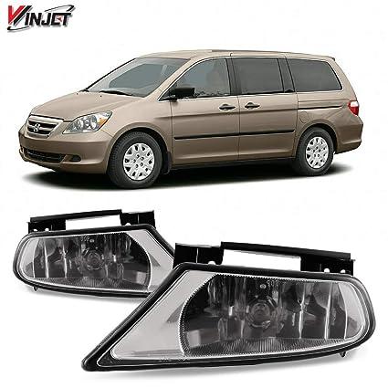 amazon com: winjet wj30-0136-09 oem series for [2005-2007 honda odyssey]  clear lens driving fog lights + switch + wiring kit: automotive