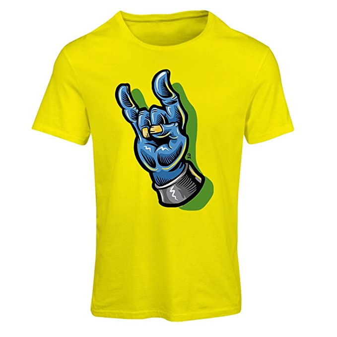 Camiseta Mujer Zombie Mano A Rock and Roll símbolo, Signo de los Cuernos, Signo de Metal: Amazon.es: Ropa y accesorios