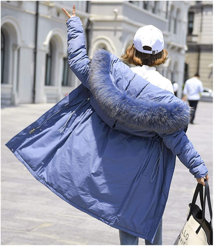 EIJFKNC Giacche Giù Long Winter Coat Female New Large Collar Korean Version Loose And Large Size Cotton Jacket Coat vedi tabella 1