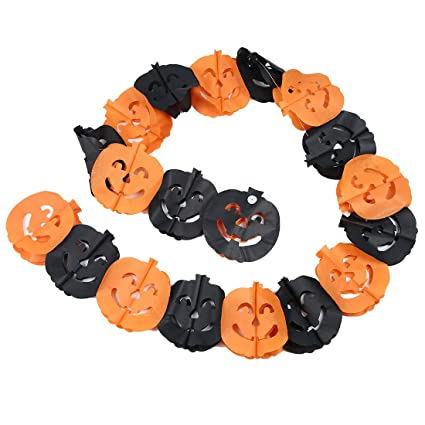 SODIAL (R) Zucca di Halloween di carta Decorazioni Prop  Amazon.it ... a2e3f5bf985d