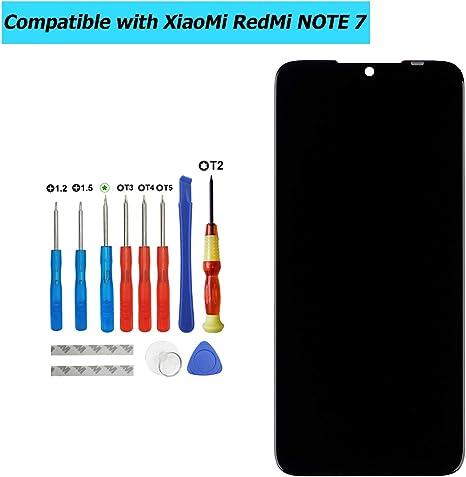 Upplus Pantalla LCD de Repuesto, Compatible con Xiaomi Redmi Note 7, Pantalla de Repuesto para reparación, Pantalla LCD táctil, digitalizador de Pantalla, con Kit de Herramientas (Blanco): Amazon.es: Informática