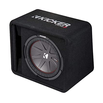 amazon com: kicker 12 inch 1000w subwoofer box + 1500w mono amplifier,  remote + wiring kit: car electronics