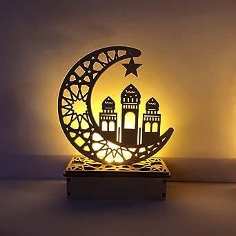 Erisl - Placa colgante de madera con diseño de la luna de