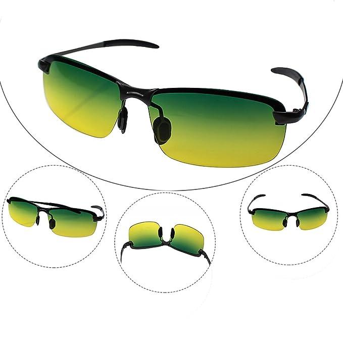 Amazon.com: Gafas de sol polarizadas para día y noche con ...