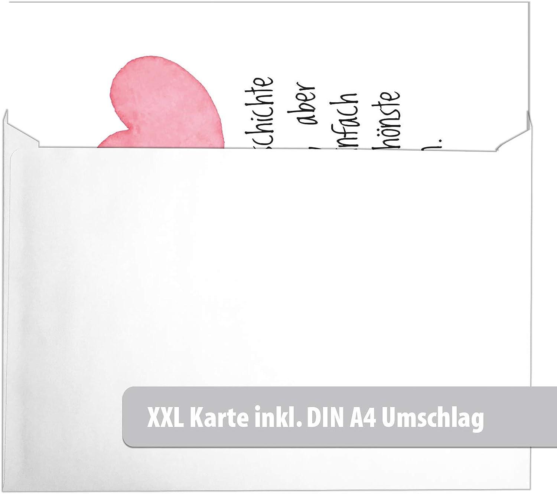 Klappkarte mit Umschlag Liebe Valentinstag Valentinskarte Gru/ßkarte Sch/öner Spruch Liebeskarte mit Herzen rot