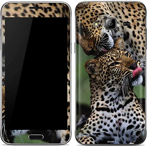 Animal Photography Galaxy J3 Skin - Mother Leopard Grooms Her Cub Vinyl Decal Skin For Your Galaxy J3