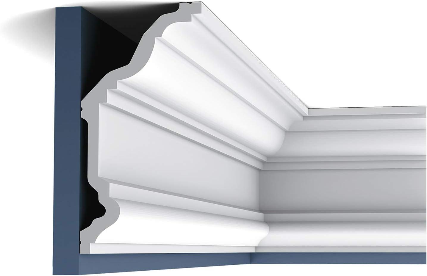 Cornice Moulding Orac Decor C832 XTERIO Decorative Moulding Timeless Classic White 2m