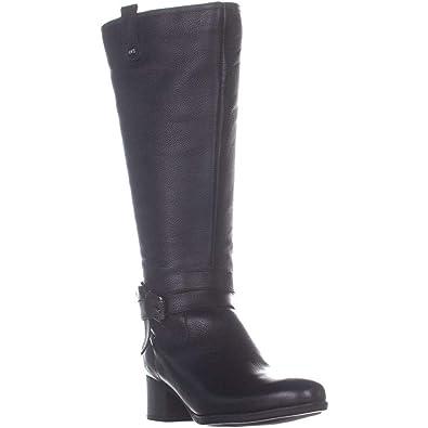 e5c9d287b789 Naturalizer Women s Kim Black Wide Calf Leather 5 ...
