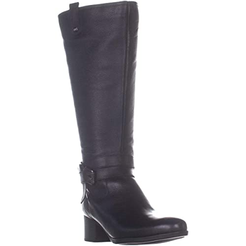 0a45c1ff81f Naturalizer Womens Kim Leather Stacked Riding Boots
