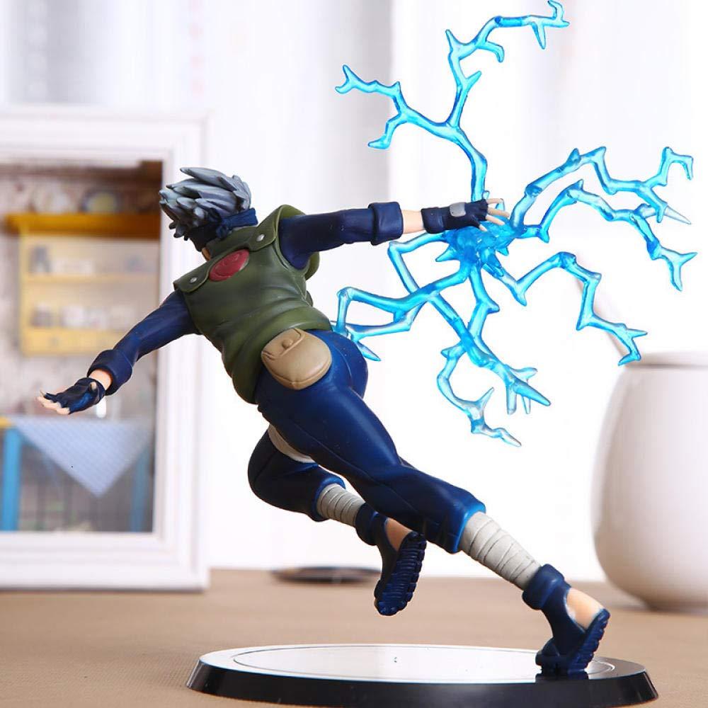 RHJJIPSD Action Figure22 Cm Cool Naruto Kakashi Sasuke Action Figure Pupazzi Anime Figura Giocattoli in PVC Figura Modello Tavolo Accessori da Scrivania