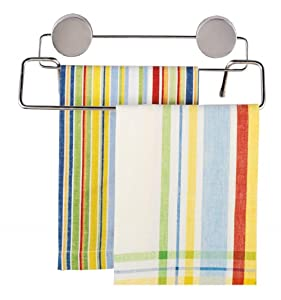 Better Houseware 2409 Magnetic Double Towel Bar, Stainless