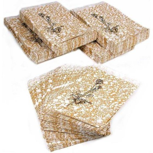 500 Gold Paper Gift Bags Shopping Sales Tote Bags 4 x -