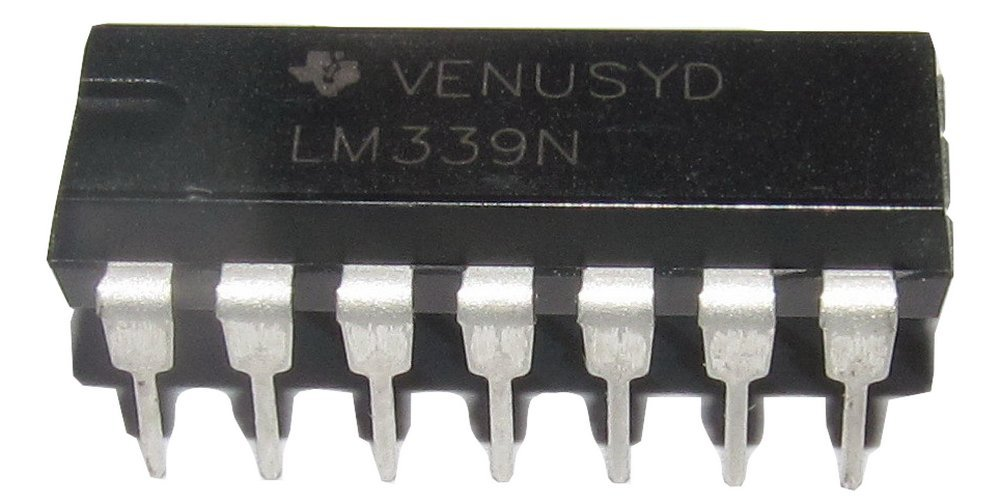 TEXAS INSTRUMENTS LM339N/NOPB Analogue Comparator, Quad, Precision, 4, 1.3 µs, 2V to 36V, ± 1V to ± 18V, DIP, 14 Pins (50 pieces) 1.3 µs ± 1V to ± 18V