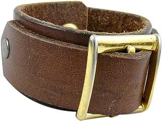 product image for Modern Artisans Upcycled Leather Belt Buckle Cuff Bracelet, Unisex Style