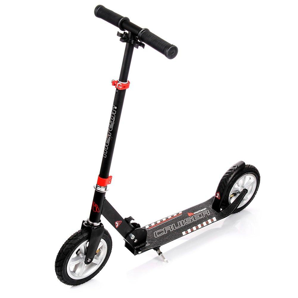 meteor CRUISER Scooter : Big Wheel 200 Kickscooter Tret-Roller, Stunt Scooter klappbar, Erwachsene & Kinderroller, Sehr langlebig - bis zu 100 Kg, gepumpte Räder gepumpte Räder markArtur
