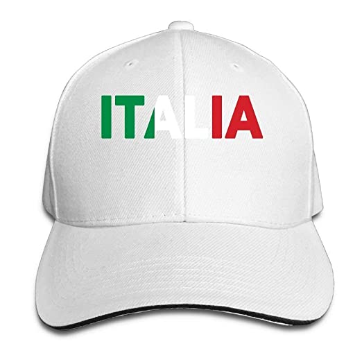 Image Unavailable. Image not available for. Color  Ustcyla Italia Italy  Italian Flag Classic 100% Cotton Hat Caps Unisex ... c52655192
