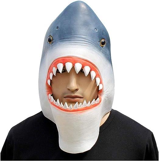 YaPin Novedad Máscara de Halloween Máscara de tiburón Máscara de ...
