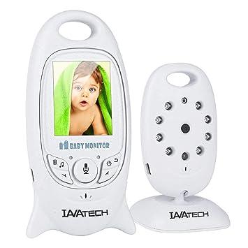 Wireless Baby Monitor,Babyphone mit Kamera,Video Babyphone mit Gegensprechfunktion Digital mit Temperatursensor Schlaflieder VOX Funktion f/ür Baby /Überwachung