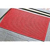 Andersen 280 Waterhog Fashion Polypropylene Fiber Entrance Indoor/Outdoor Floor Mat, SBR Rubber Backing, 3-Feet Length X 2-Feet Width, 3/8-Inch Thick, Solid Red