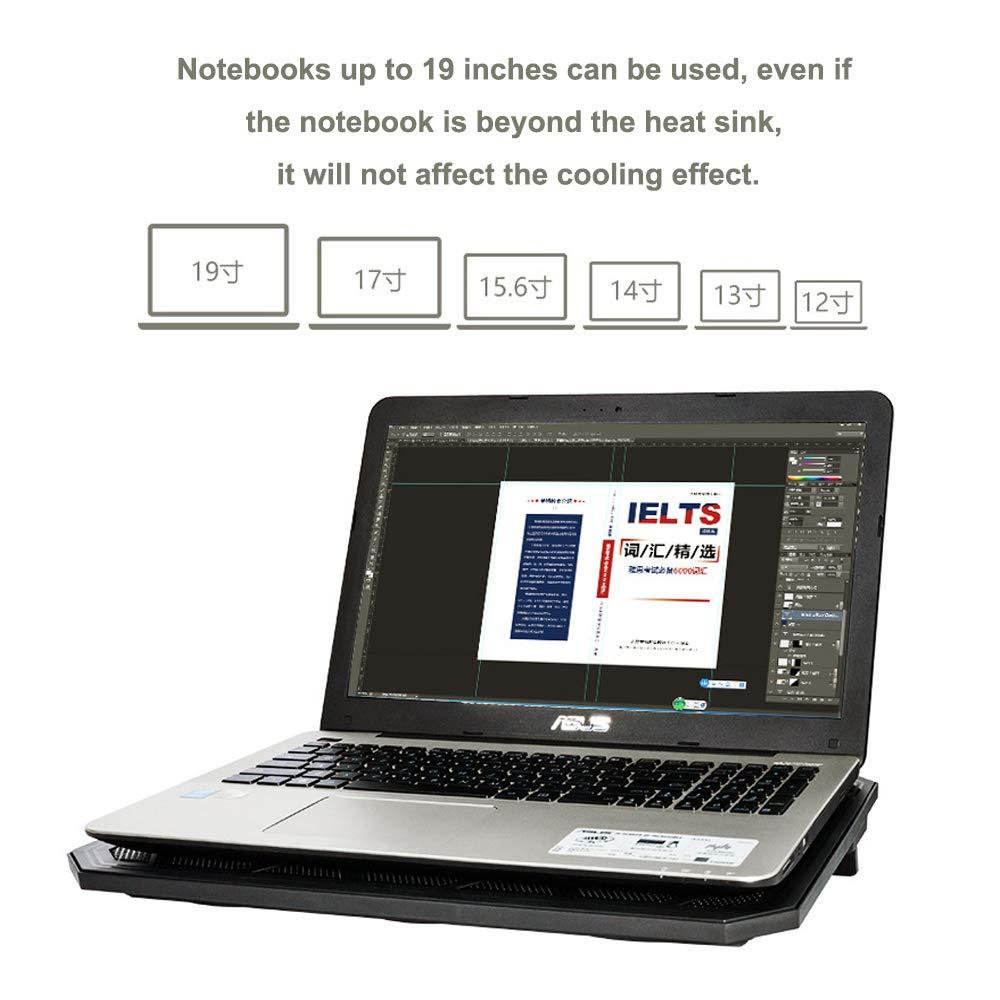 Und Notebook-K/ühlpad Mit 6 L/üftern Bei 2400 U//Min Laptop-K/ühler F/ür 12-19 Ultra-portabel wwl Laptop