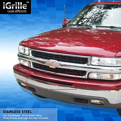 Off Roader Black Stainless Steel eGrille Billet Grille Grill for 00-06 Chevy Avalanche/Suburban/Bumper Insert ()