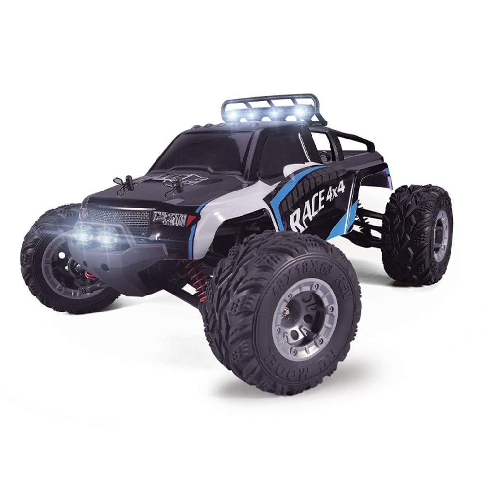 Pinjeer 1:12 30キロメートル/ hリモートコントロールオフロード車四輪駆動高速クライミングリモートコントロールおもちゃの車の男の子大人プロフェッショナルRCレーシングドリフトカー用キッズ8+ (Color : Blue, サイズ : 3-Battery) B07R683KGL Black 4-Battery 4-Battery|Black