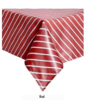 Premium Quality Vinyl Tablecloth (Plasticized Tablecloth) 100% Polyester  Thick Laminated Tablecloth With