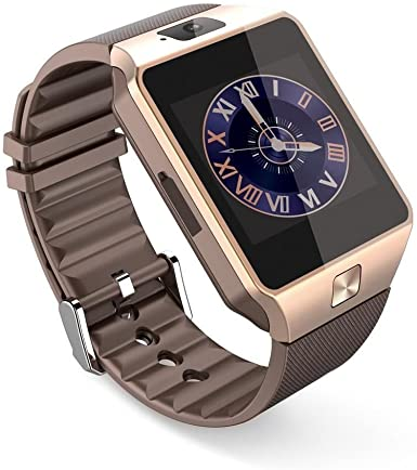 PELTEC @ Bluetooth Smart Watch Pulsera Reloj Teléfono Móvil para Android, iPhone iOS, Smart Watch Smartphone SIM Reloj de pulsera Cámara Color Dorado: Amazon.es: Electrónica