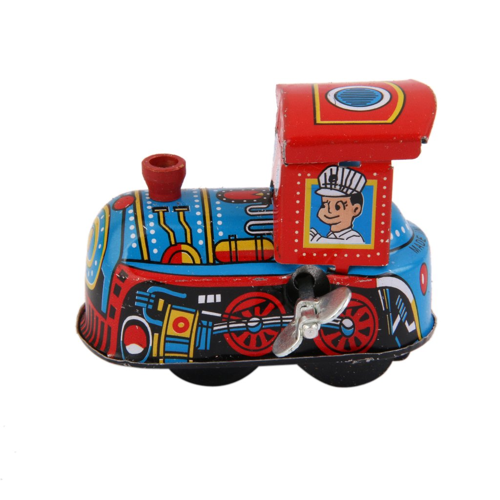 SM SunniMix Finiscono Treno Bambini Locomotiva Modello Orologeria Giochi Giocattoli in Metallo da Collezione