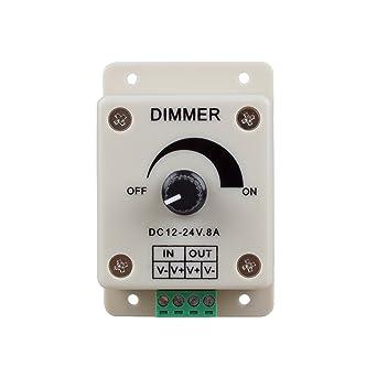 Sodial (R) - PWM Dimmer controlador para luces de LED, lazo o tira