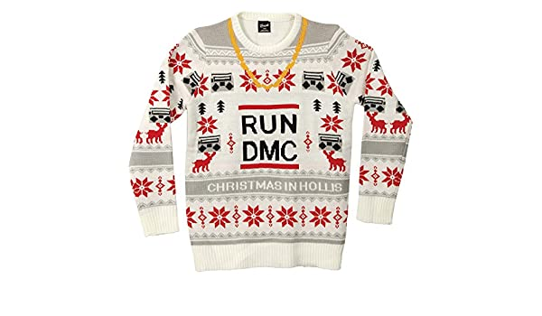 Run DMC Chain Ugly Christmas Sweater: Amazon.ca: Clothing
