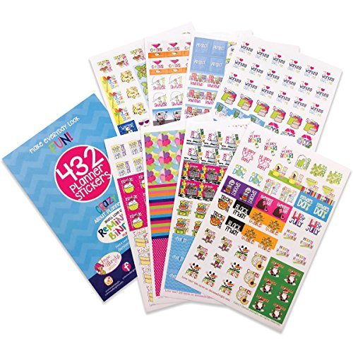 Planner Stickers Variety Set (Qty 432) Value Pack for Holidays, Birthdays, Home, Wedding, Shower, Work, Appointments, Party, Date Night, Seasons, Workout Tracking & Tasks for Any Planner or Organizer -