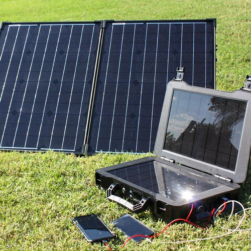 Renogy Phoenix Generator 100W Monocrystalline Foldable Solar Suitcase Kit