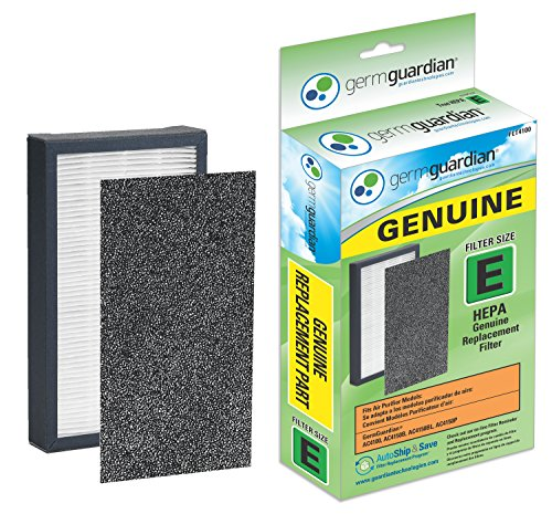 : GermGuardian Air Purifier FLT4100 GENUINE HEPA Replacement Filter E for AC4100, AC4150BL, AC4150PCA Germ Guardian Air Purifiers