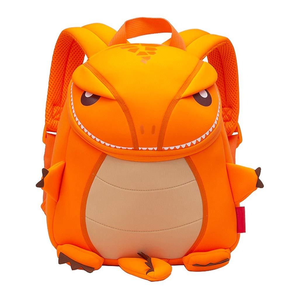 子供の学校のバッグ幼稚園2-6歳の赤ちゃんのバックパック、少年少女の恐竜のバックパック親子の旅行袋 (色 : オレンジ, Size : L) B07HP2ZX5D オレンジ L