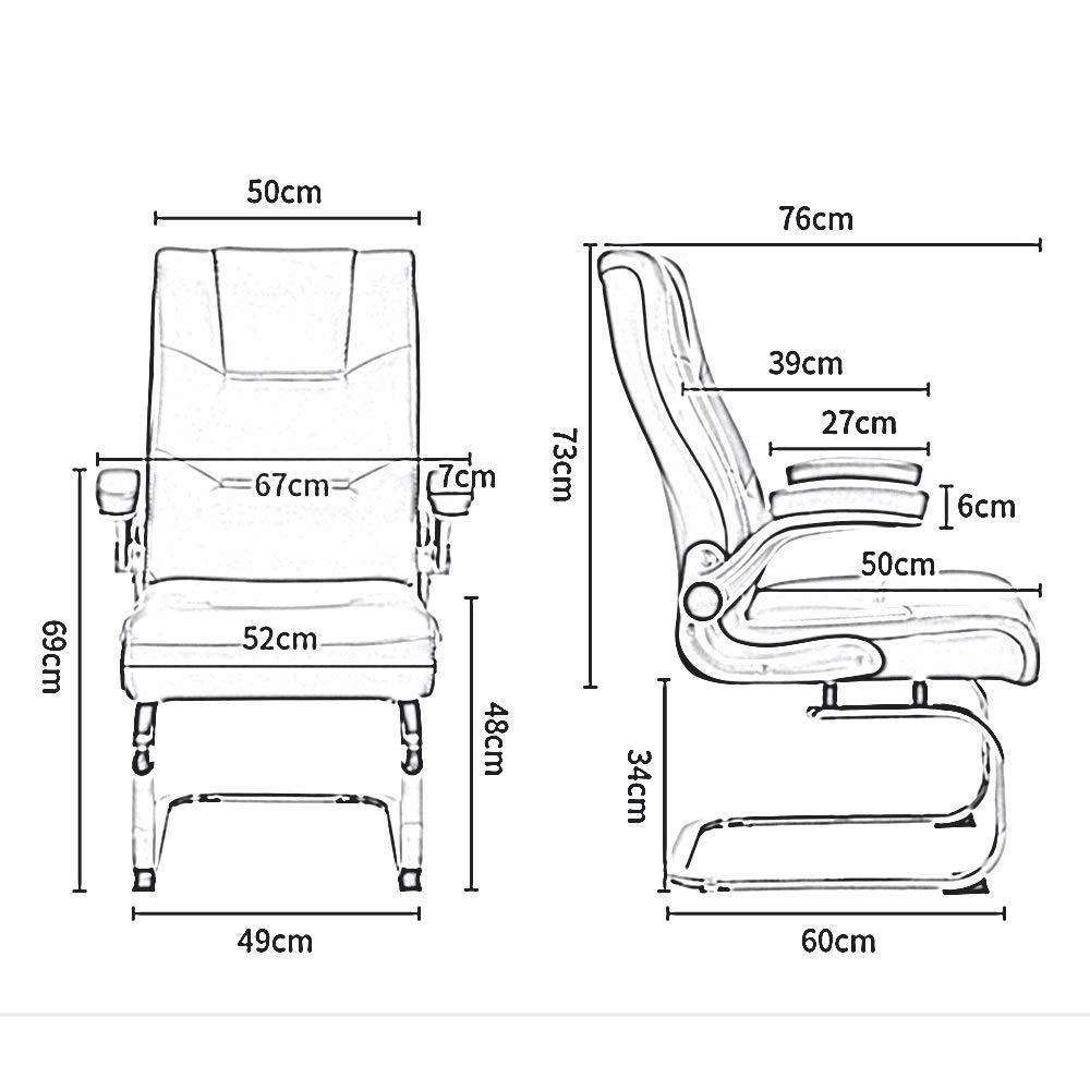Oficina en casa Peso 150 kg,Marr/ón ergon/ómico rodamiento reposabrazos m/óviles ejecutivos Silla de Escritorio Acolchado de Cuero de PU Silla giratoria para computadora
