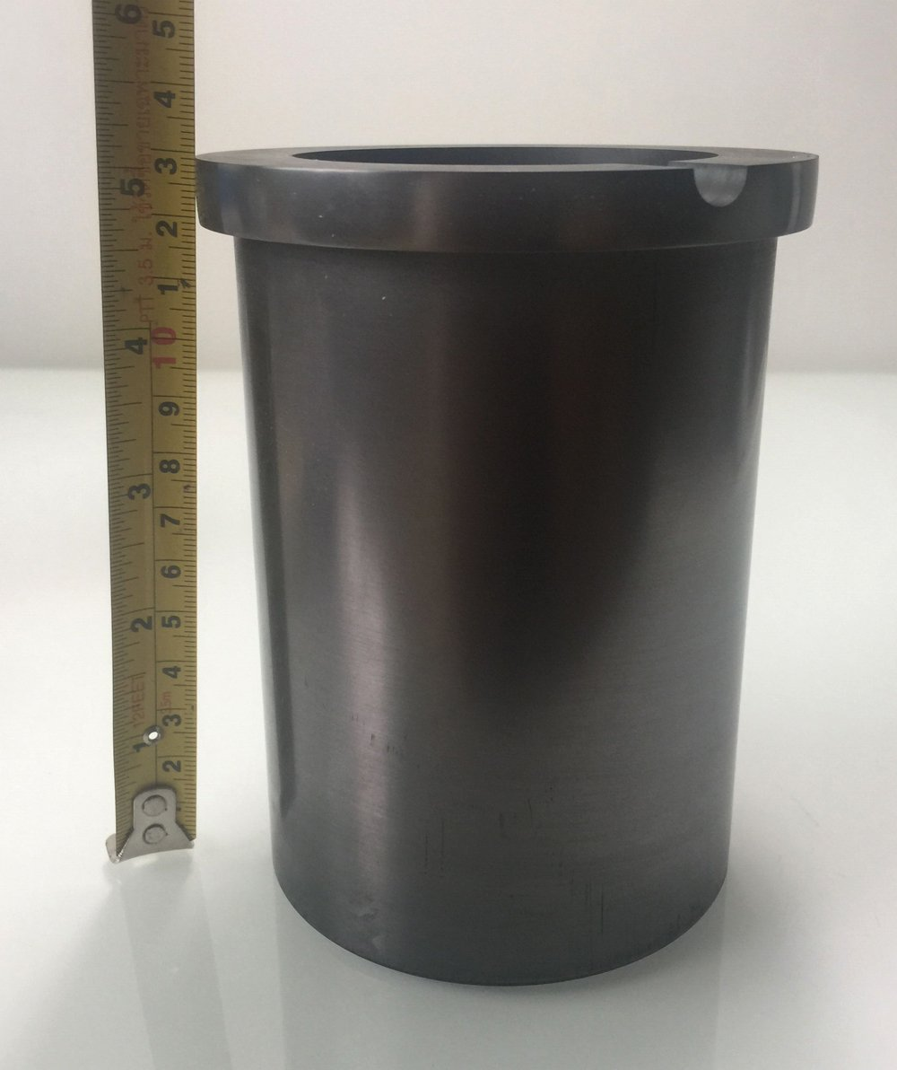 OTOOLWORLD 99.9% Pure Graphite Crucible Metal Melting Gold Silver Scrap Casting Ingot Mould (5kg Graphite Crucible) by OTOOLWORLD (Image #2)