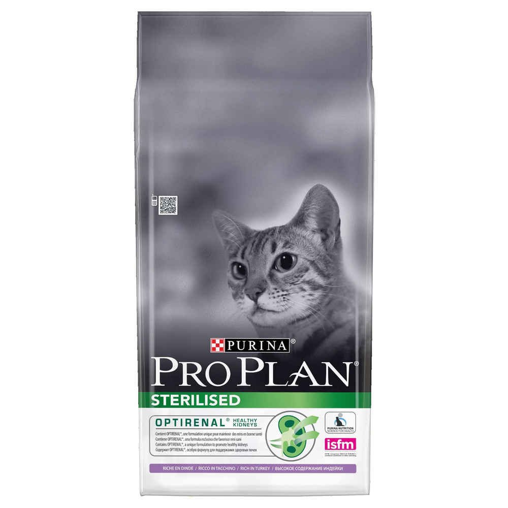 PRO PLAN Sterilised - Riche en Dinde - 10 KG - Croquettes pour chat adulte Nestle ProPlan 7613033566547
