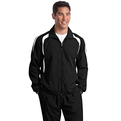 Sport-Tek - Colorblock Raglan Jacket. JST60 - Black/White_4XL