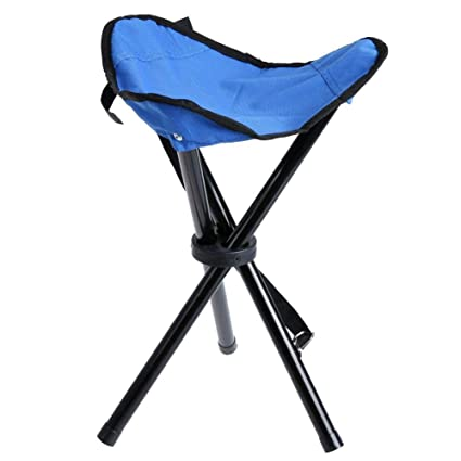 c0d857916d70 yyan Folding Seat Tripod Portable Small Mini Stool Chair Travel Outdoor  Camping