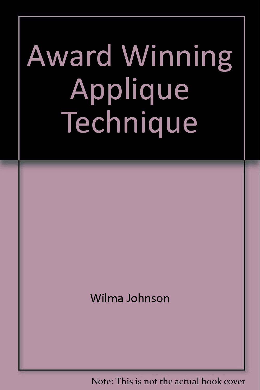 Award winning applique technique
