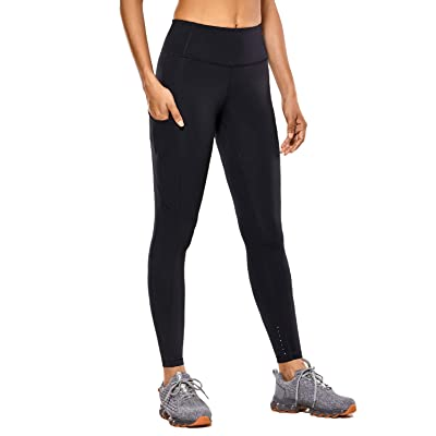 CRZ YOGA Women's High Waisted Yoga Pants with Pockets Naked Feeling Workout Leggings-25 Inches at Women's Clothing store